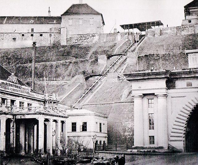 Budai Népszínház a Lánchíd téren, 1870.