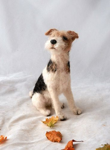 felted wire fox terrier | needle felted wire fox terrier Reg… | Flickr