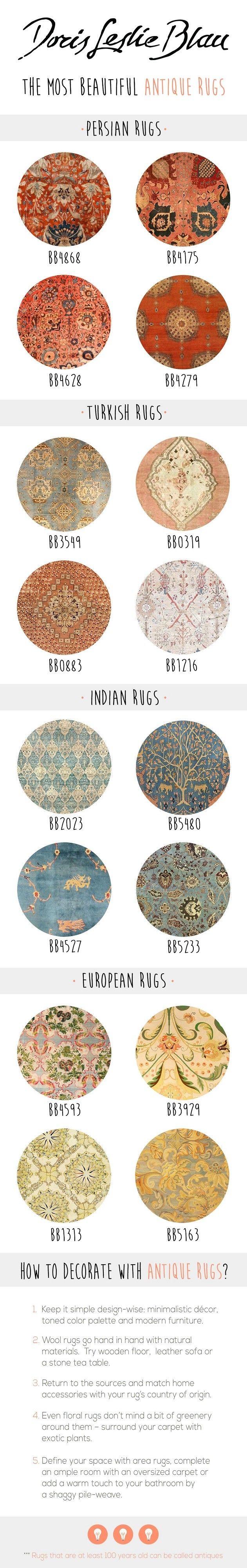 * Antique rug interior decor * Modern interior decor, modern living room with antique rugs! #interior