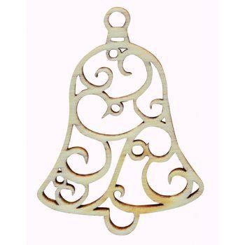 Drevený výrez, zvonček filigrán