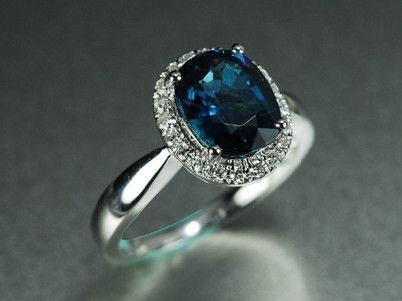 Best  Carat Blue Tourmaline Engagement Ring With Diamonds K White Gold