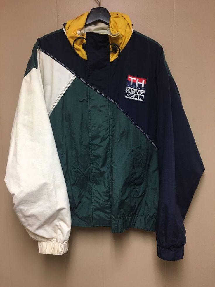 VTG 90s Tommy Hilfiger Sailing Gear 44/840 Colorblock Jacket     eBay