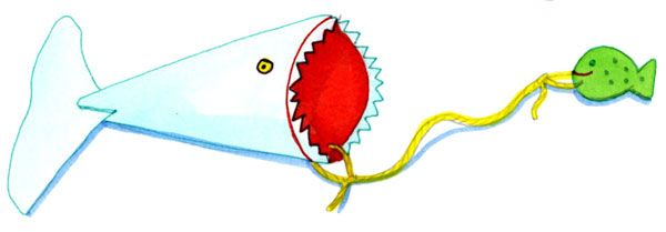 Fangspiel-Hai basteln