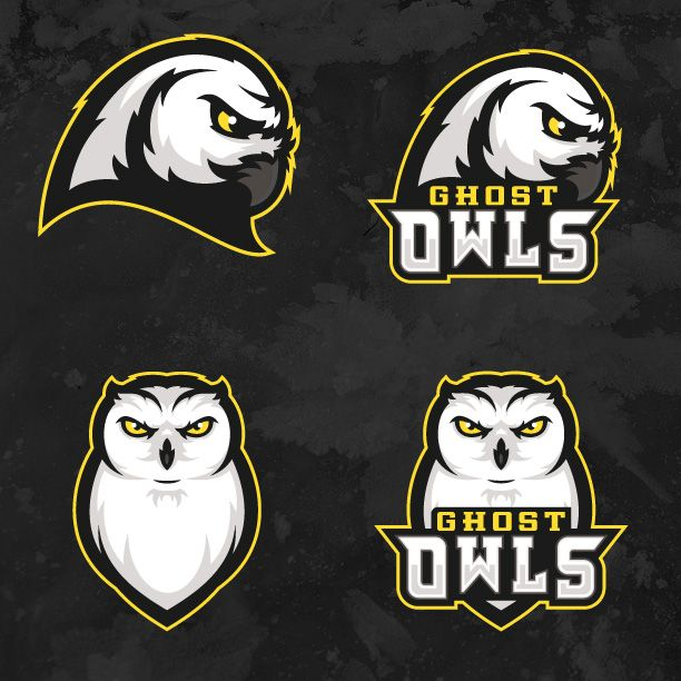Ghost Owls Hockey Team Logo - Released by CapEaters - Designed by Khisnen Pauvaday