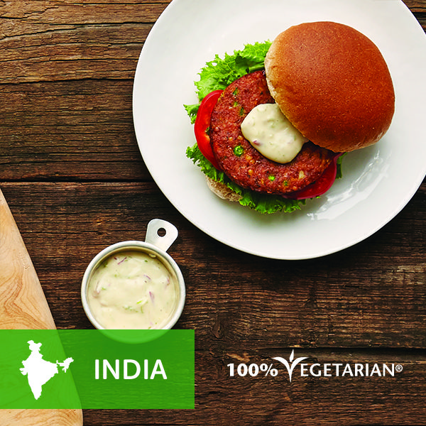Take the versatile veggie burger with lime mayo to a new exotic destination.