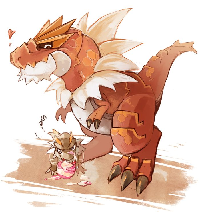 Tyrant and Tyrantrum my favorite pokemon. I want to hug them both.