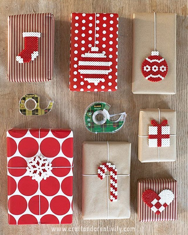 I've been challenged by 3M and the #enchantingelves from @scotchproducts to make a unique and fun Christmas gift wrapping.  I decided to make gift tags out of ironing beads and tape them to some of this year's Christmas gifts.  Check out my blog for the full tutorial. ❤️ Have a great first Sunday of Advent!  This post is sponsored.