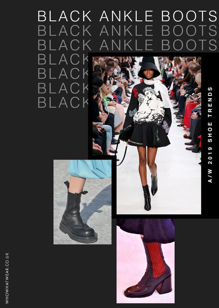 Shoe trends autumn winter 2019: black