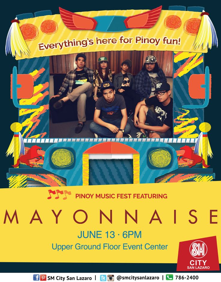 Everything's here for Pinoy Fun!   Celebrate Philippine Independence only at SM CITY SAN LAZARO!  Pinoy Music Fest featuring MAYONNAISE live on June 13, 6pm at the Upper Ground Floor Event Center! See you all!   #pinoyfunph #pinoyfun #pinoyfunatSMCITYSANLAZARO