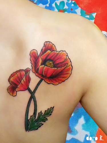 I want this tattoo somewhere after my Poppy.