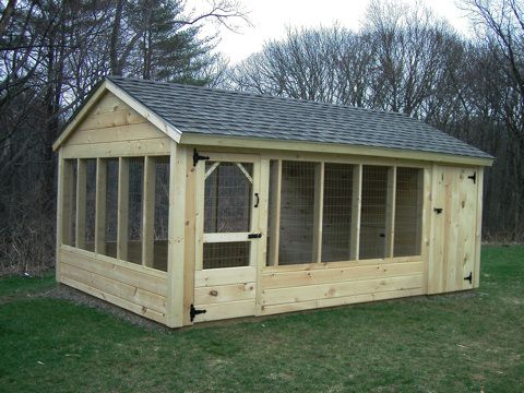 Outdoor Dog Kennels | Outdoor Wooden Backyard Pet Kennel Runs