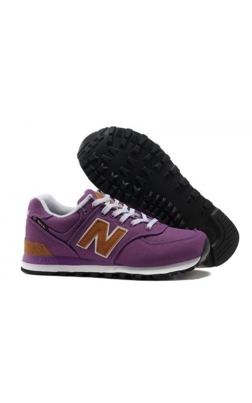 Womens Purple Brown Sneakers New Balance 574 Cheap