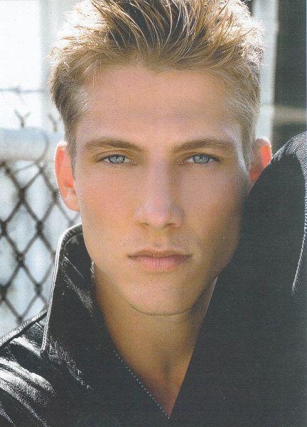 Blonde male model