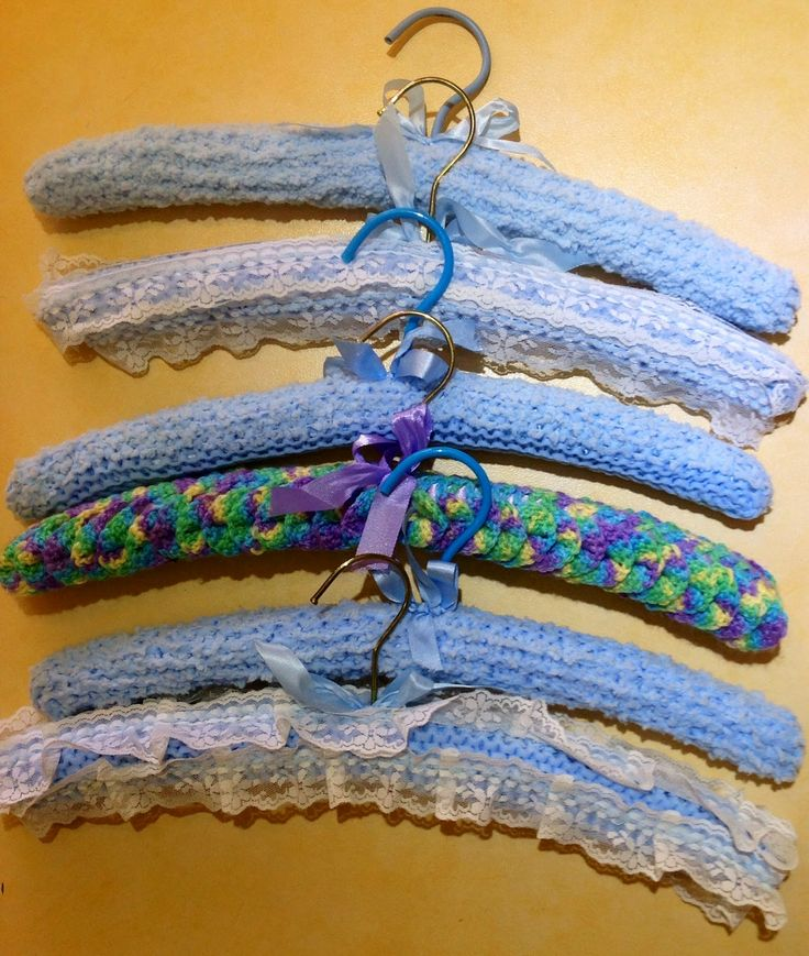 Knitted coat hangers