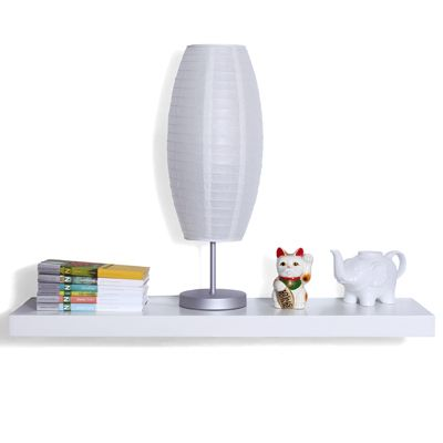 So Simple White Floating Wall Shelf at SmartFurniture.com