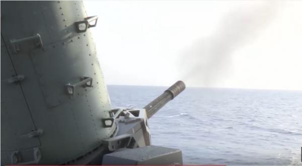 Live Fire Test Of The U.S. Navy Ships M61 Vulcan Gatling Gun Autocannon Phalanx Close