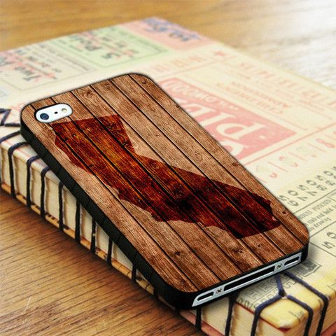 California Wood Map iPhone 4|iPhone 4S Case