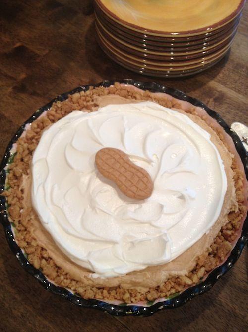 Nutter Butter Pie - Easy frozen peanut butter pie. YUM!