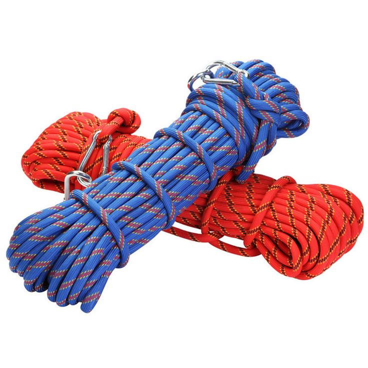 10meters Rock climbing rope 10 mm safety rope with buckle mountaineering ropes prompt drop outdoor camping equipment