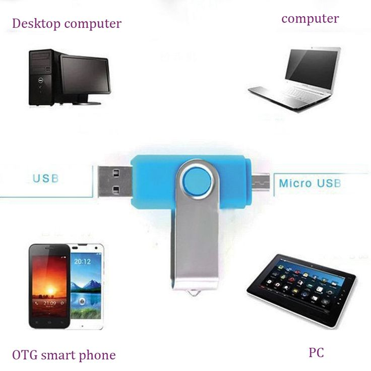 Full size Dual Rotatie Smart Phone USB Flash Drives 64G 32G 16G 8G pendrives OTG externe opslag micro usb pen drives gift