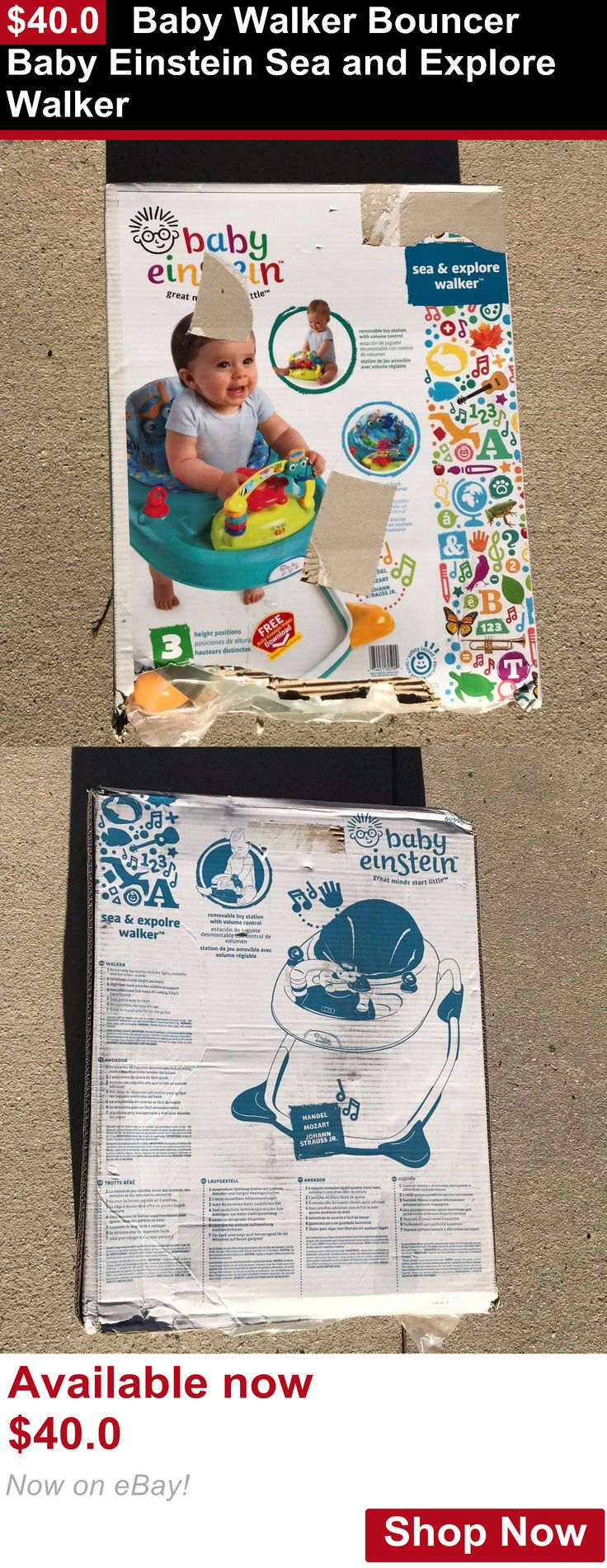 Baby walkers: Baby Walker Bouncer Baby Einstein Sea And Explore Walker BUY IT NOW ONLY: $40.0
