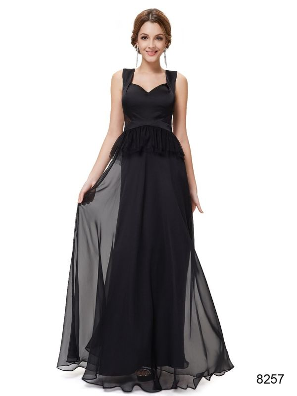 ブラックでエレガントなパーティーロングドレス - ロングドレス・パーティードレスはGN|演奏会や結婚式に大活躍!