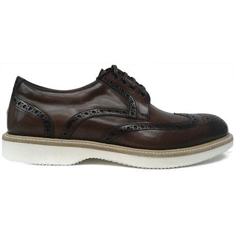 8316 zapato blucher con pala vega en marrón de Paco Milán   Calzados Garrido