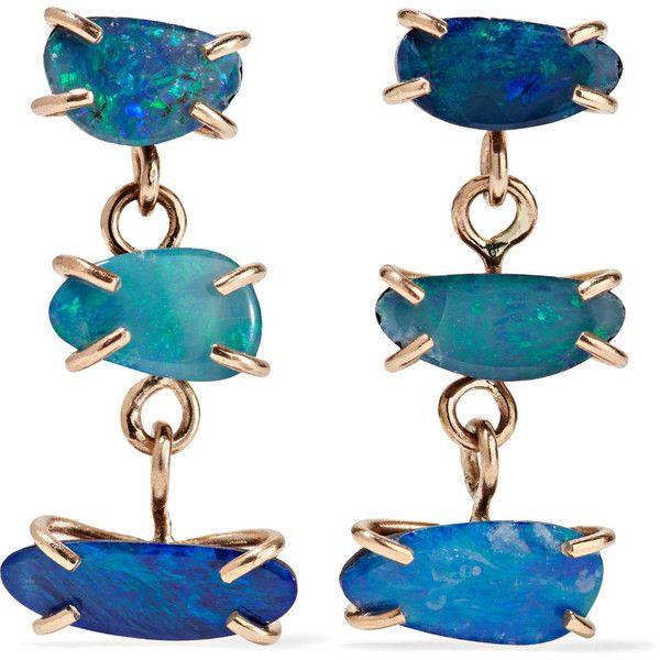 Melissa Joy Manning 14-karat gold opal earrings ($1,045) ❤ liked on Polyvore featuring jewelry, earrings, opal earrings, melissa joy manning jewelry, 14k earrings, hand crafted jewelry and handcrafted jewelry