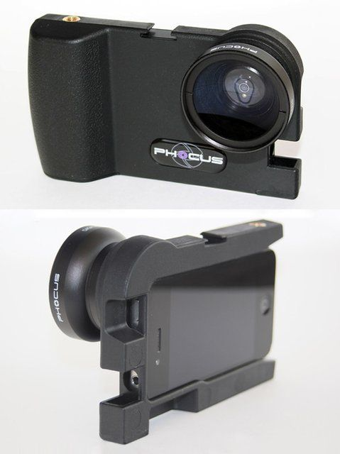 iPhone DSLR photography adapter by Phocus