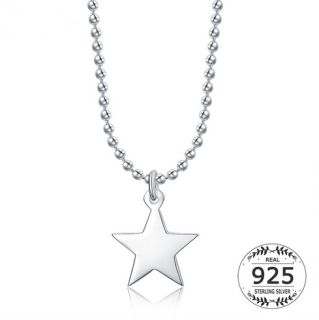 """Cute star pendant necklace Weight:        3.87 grams Size of Star"""" 11.53  mm Chain size:    1.5 mm  Free Shipping"""