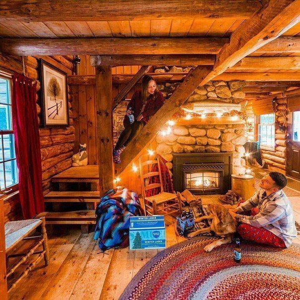 49 Beautiful Home Interior Cabin Style Design Ideas