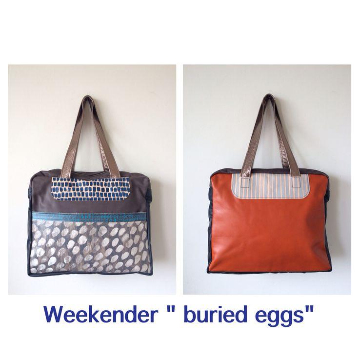 Handpainted leather weekender by Julia Flanagan
