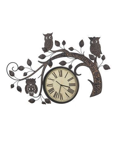 owl branch wall clock