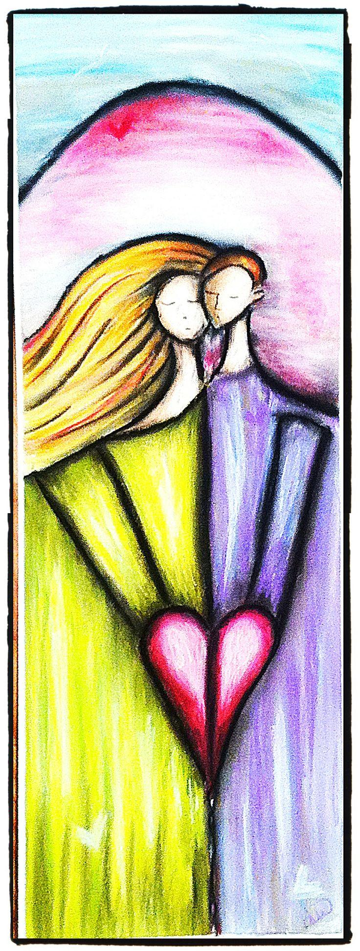 Kjærlighet - laget med pastellkritt