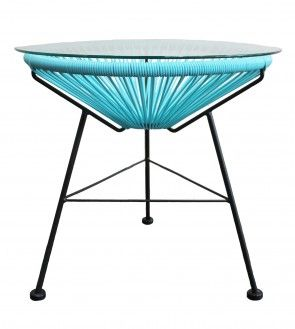 Like our Acapulco lounge chairs, our side tables are manufactured with a galvanized powder coated steel frame with a UV resistant plastic cane. Also for added usability our replica side tables come with a tempered glass top so you can sit your coffee or dink on it without a worry. You really cant go wrong with the Acapulco range.