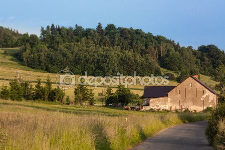 Gospodarstwa w Górach Kaczawskich — Zdjęcie stockowe © EwelinaBanaszak #108170308