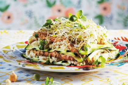 Raw vegetarian lasagne with cashew cheese from Lola Berry