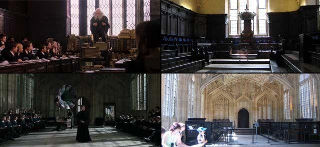 Une des conditions à laquelle tenaient particulièrement J.K. Rowling et les producteurs des films était que les adaptations de Harry Potter soient réalisées dans un univers britannique. Au-delà de l'équipe et des acteurs, ils souhaitaient tourner les films dans des décors se situant au Royaume-Uni. Ainsi, même si une majorité des images a été tournée …