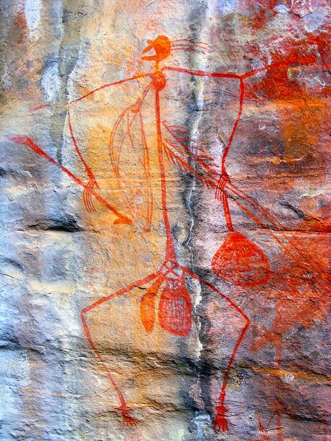 Ancient Aboriginal rock art, Kakadu National Park, Northern Territory, Australia