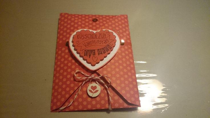 Ein schöne Idee für Valentin eine Karte die in dem Umschlag intrigiert wurde.
