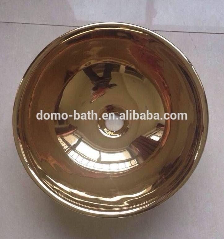 DOMO античная латунь с 24 К позолоченные бассейна тщеславия