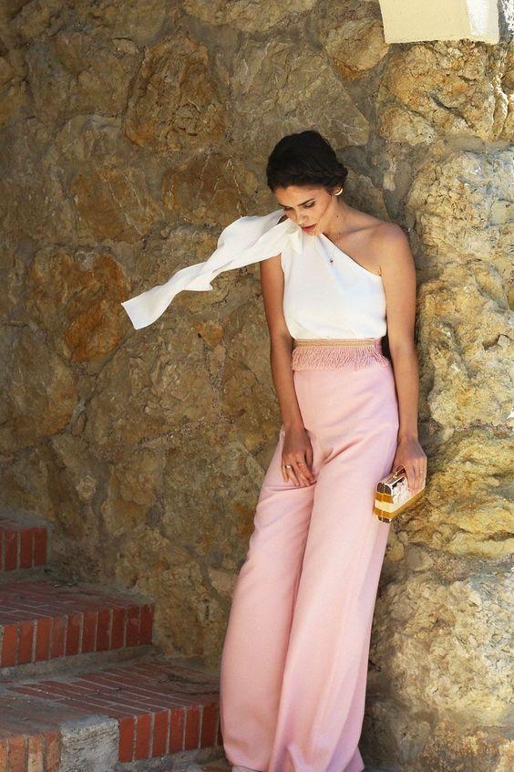 precio inmejorable en venta en línea amplia selección de colores y diseños Pantalón Palazzo Rosa Palo Delbin | fashion | Fashion pants ...