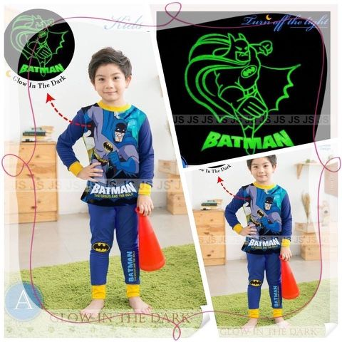 momsneed'shop: Piyama anak murah - piyama glow in THE dark BADMAN...