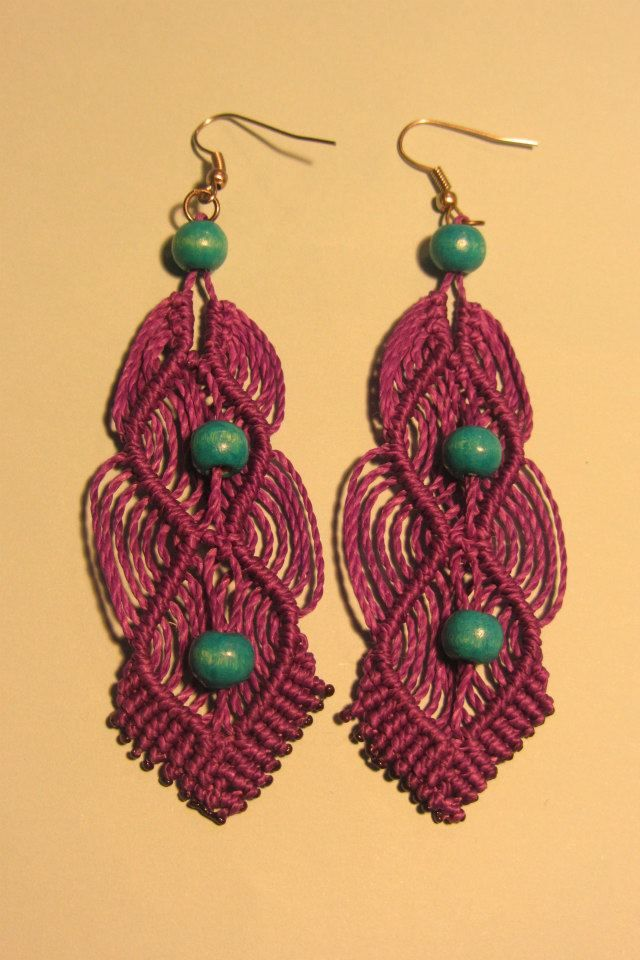 Rings of macrame/ aros de macramé