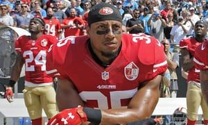 Three players defy NFLPA and kneel for anthem on Veteran's Day weekend | Sport | The Guardian