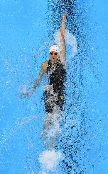 #RIO2016 Katinka Hosszu of Hungary competes in the second Semifinal of the Women's 200m Backstroke on Day 6 of the Rio 2016 Olympic Games at the Olympic...