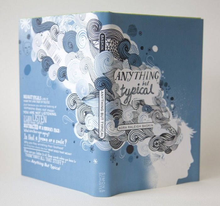 Anything But Typical jacket design by James Gulliver Hancock (Simon and Schuster)