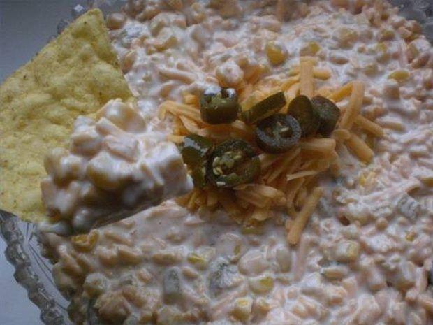 Receta de salsa para untar de maíz con queso crema