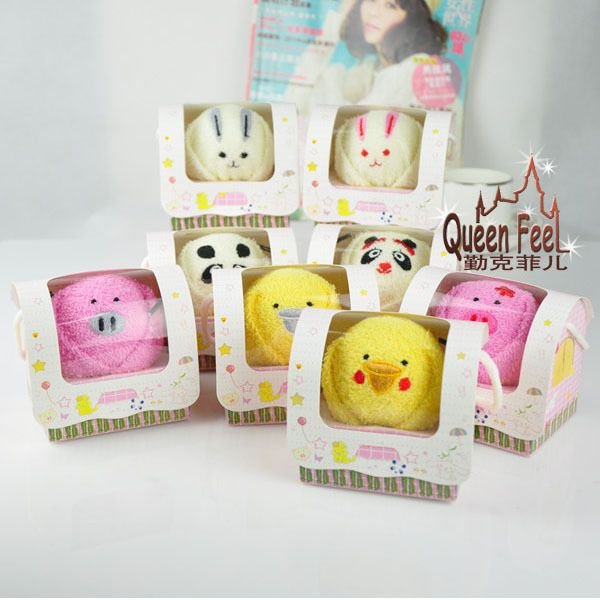 Christmas Gifts-Creative Single Animal Pure Cotton Towel In Box Size:10*8*9 cm #QueenFeel