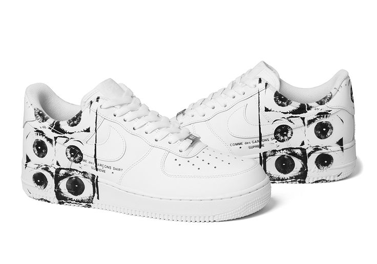 The Supreme x COMME des Garcons x Nike Air Force 1 Low releases this Thursday exclusively on the Supreme online store. Featuring the classic all-white Air Force 1 body with special artwork on the upper, this three-way collaboration is the … Continue reading →